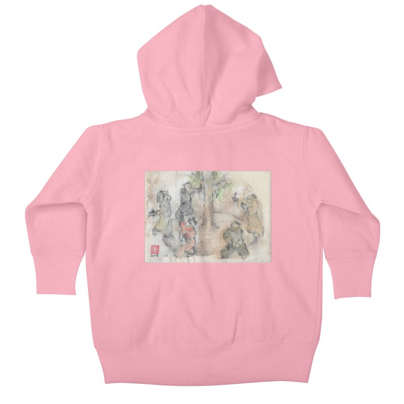 Double Change In transition Kids Baby Zip-Up Hoody by arttaichi's Artist Shop