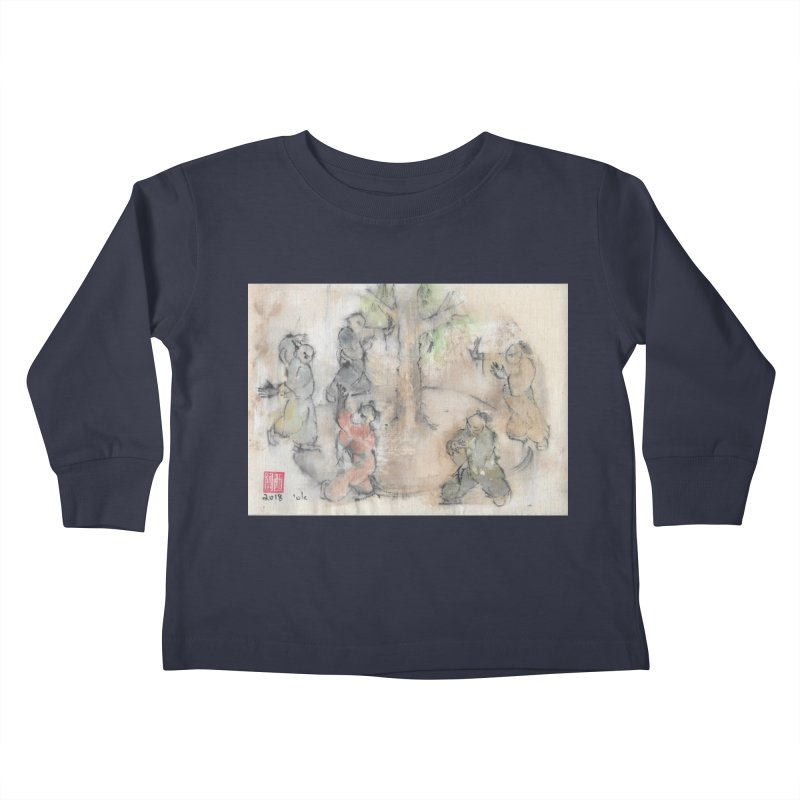 Double Change In transition Kids Toddler Longsleeve T-Shirt by arttaichi's Artist Shop