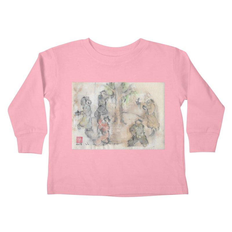 Double Change In transition Kids Toddler Longsleeve T-Shirt by arttaichi's Artist Shop