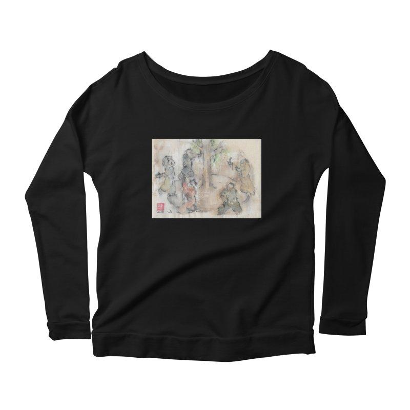 Double Change In transition Women's Scoop Neck Longsleeve T-Shirt by arttaichi's Artist Shop