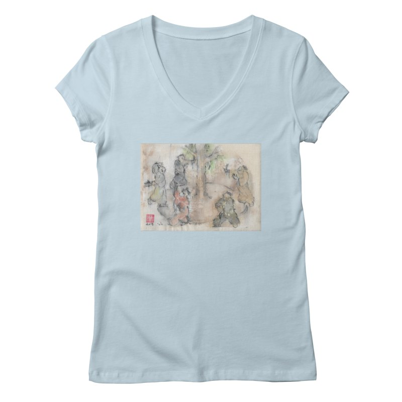 Double Change In transition Women's Regular V-Neck by arttaichi's Artist Shop