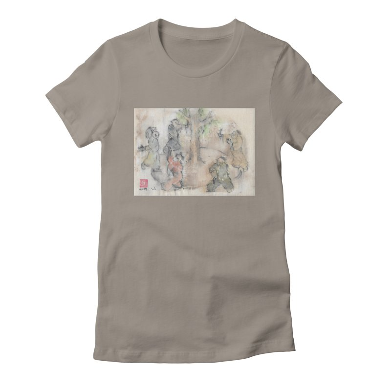 Double Change In transition Women's Fitted T-Shirt by arttaichi's Artist Shop