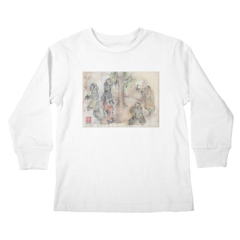Double Change In transition Kids Longsleeve T-Shirt by arttaichi's Artist Shop