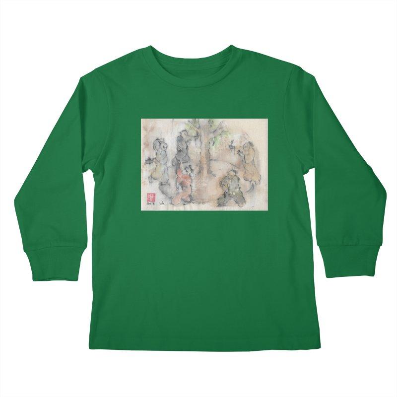 Double Change In transition Kids Longsleeve T-Shirt by arttaichi's Artist Shop