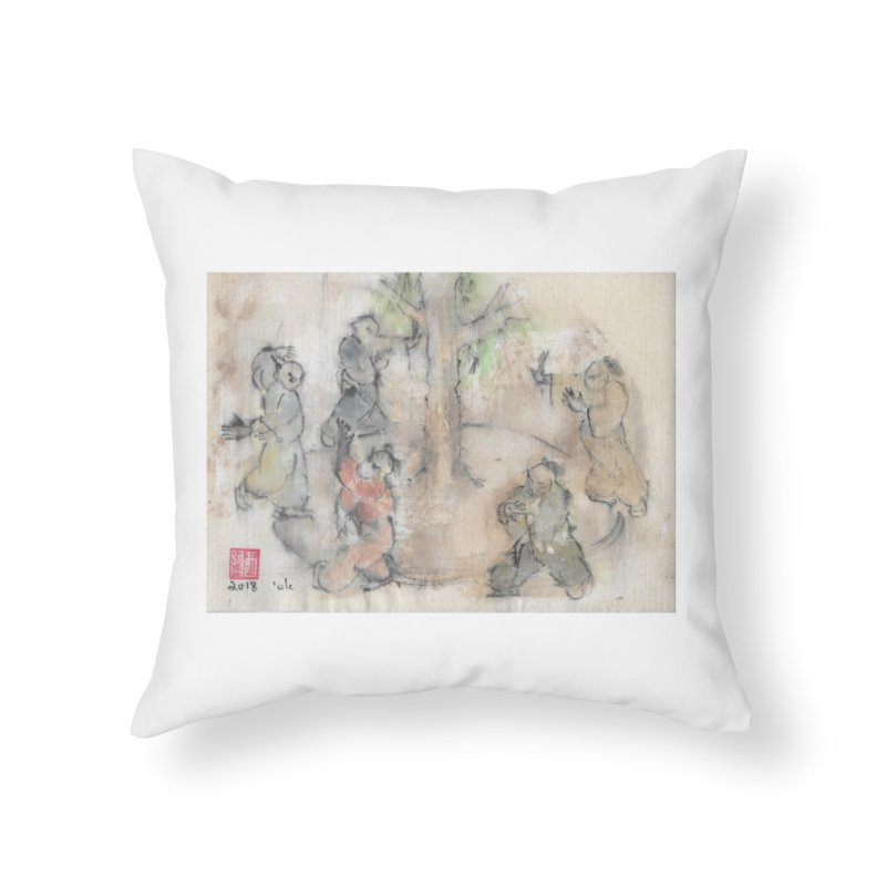 Double Change In transition Home Throw Pillow by arttaichi's Artist Shop