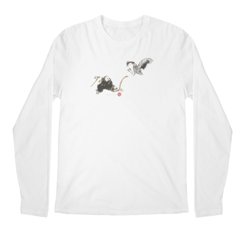 Tai Chi Crane and Snake Men's Longsleeve T-Shirt by arttaichi's Artist Shop