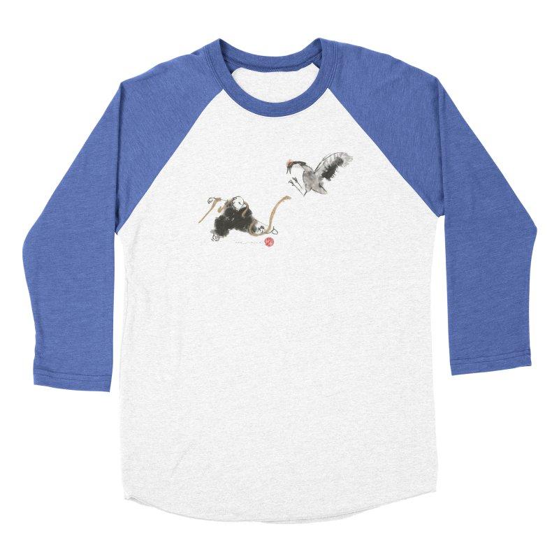 Tai Chi Crane and Snake Women's Baseball Triblend T-Shirt by arttaichi's Artist Shop