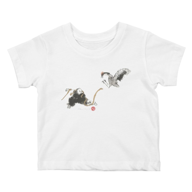 Tai Chi Crane and Snake Kids Baby T-Shirt by arttaichi's Artist Shop