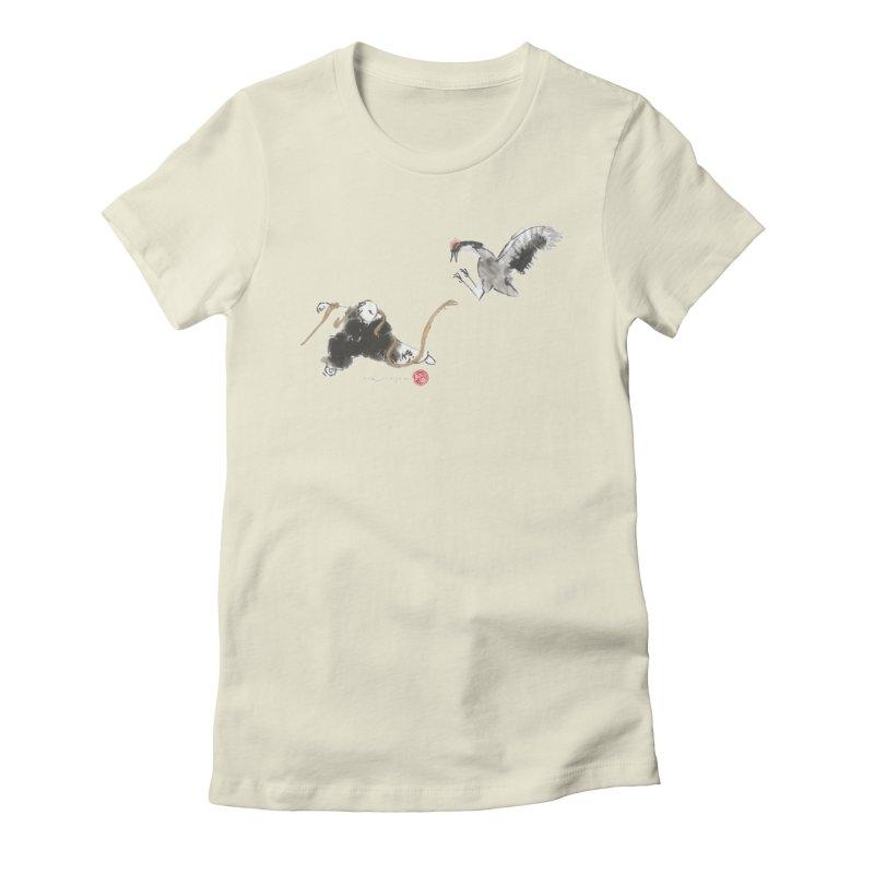 Tai Chi Crane and Snake Women's T-Shirt by arttaichi's Artist Shop