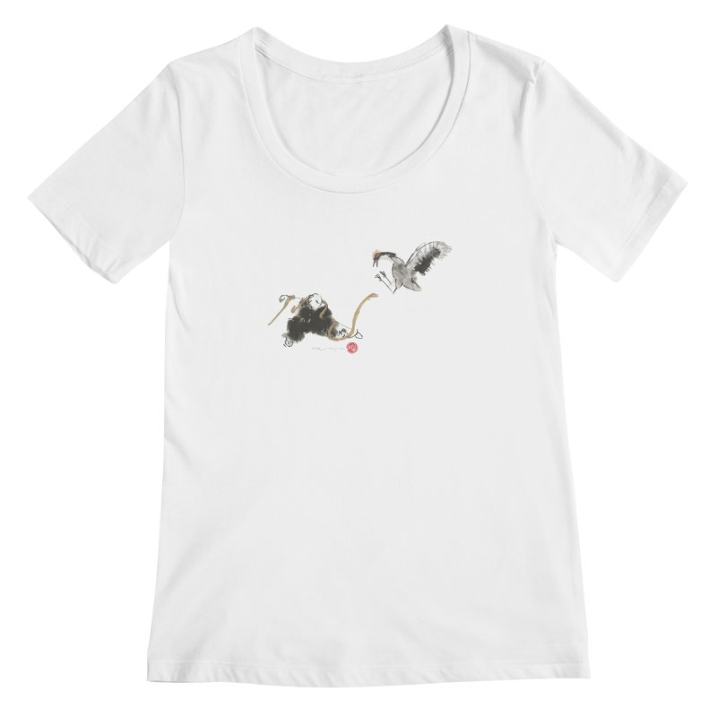 Tai Chi Crane and Snake Women's Scoopneck by arttaichi's Artist Shop