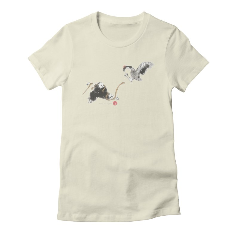 Tai Chi Crane and Snake Women's Fitted T-Shirt by arttaichi's Artist Shop