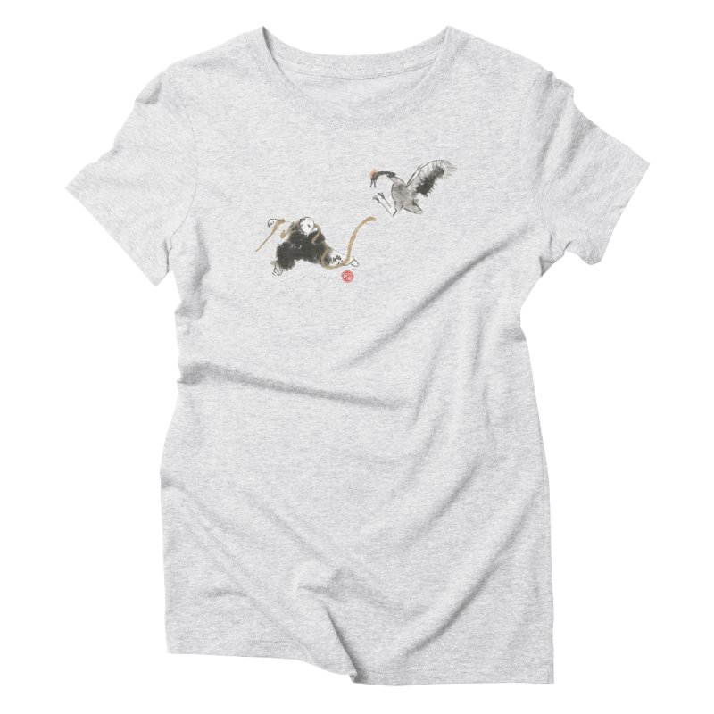 Tai Chi Crane and Snake Women's Triblend T-shirt by arttaichi's Artist Shop
