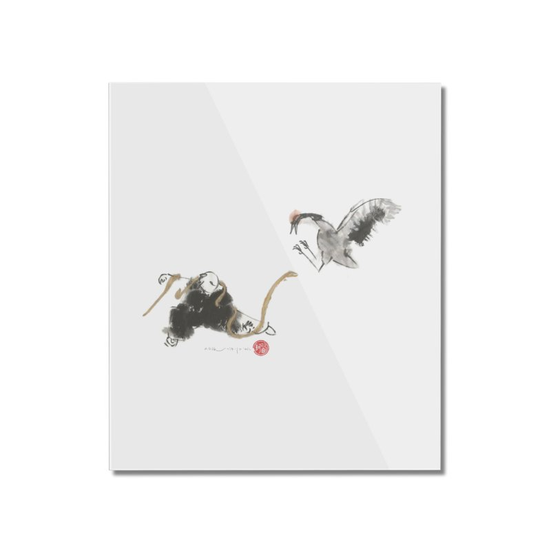 Tai Chi Crane and Snake Home Mounted Acrylic Print by arttaichi's Artist Shop