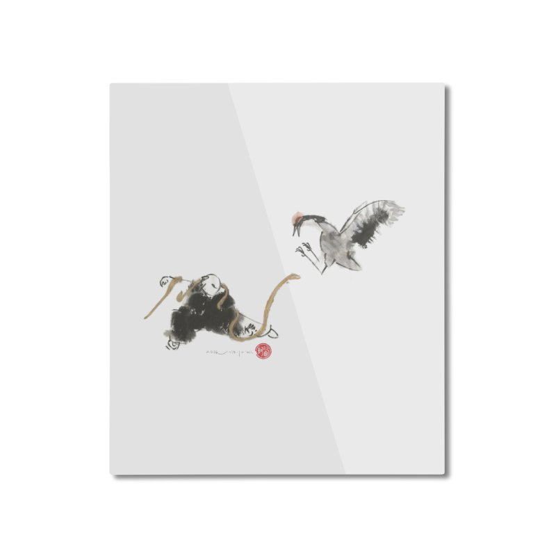 Tai Chi Crane and Snake Home Mounted Aluminum Print by arttaichi's Artist Shop