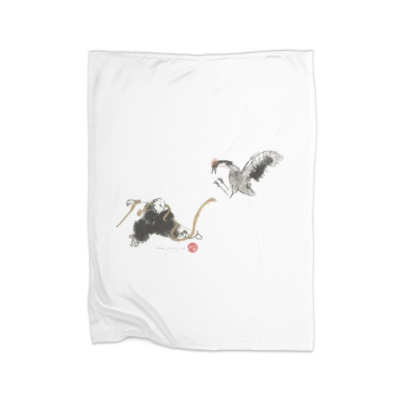 Tai Chi Crane and Snake Home Blanket by arttaichi's Artist Shop