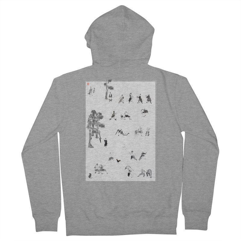 Tai Chi Forest Tales Men's Zip-Up Hoody by arttaichi's Artist Shop
