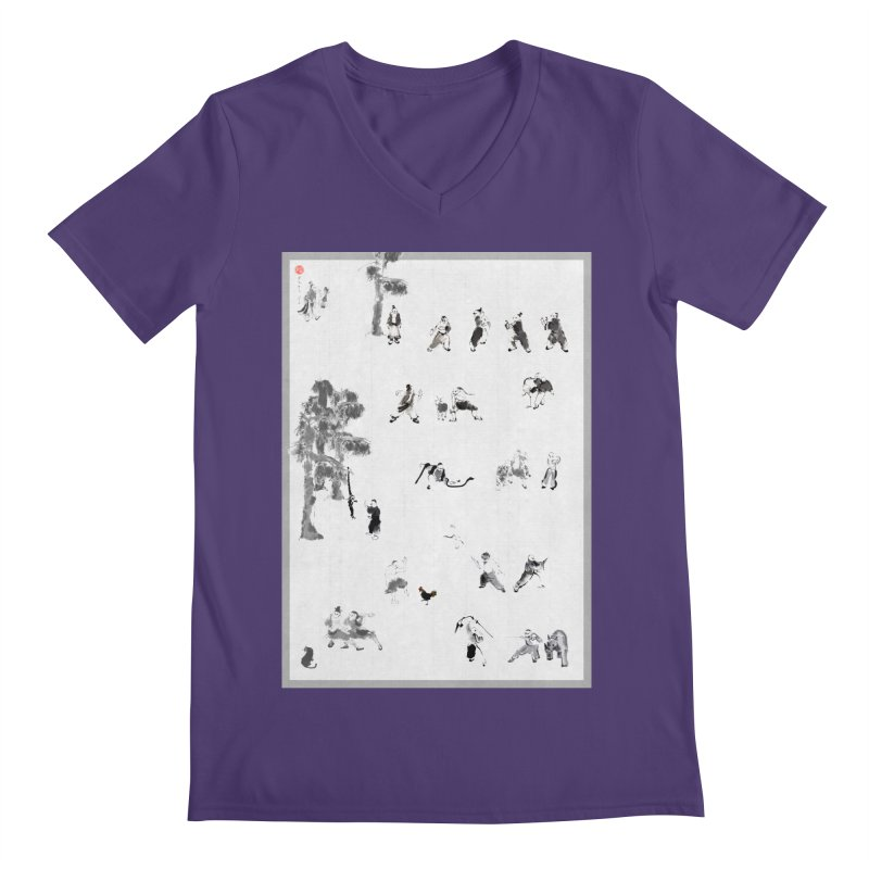 Tai Chi Forest Tales Men's V-Neck by arttaichi's Artist Shop
