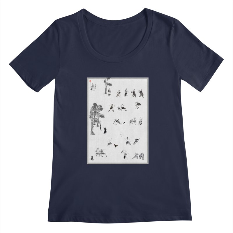 Tai Chi Forest Tales Women's Scoopneck by arttaichi's Artist Shop
