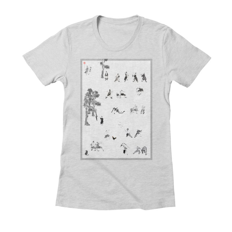 Tai Chi Forest Tales Women's Fitted T-Shirt by arttaichi's Artist Shop