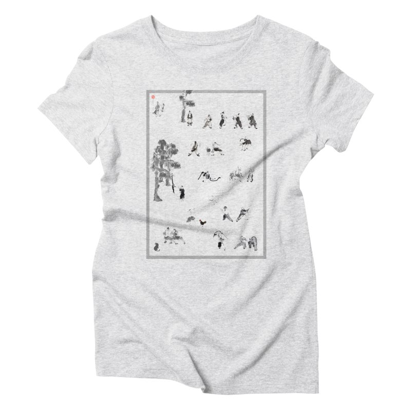 Tai Chi Forest Tales Women's Triblend T-shirt by arttaichi's Artist Shop