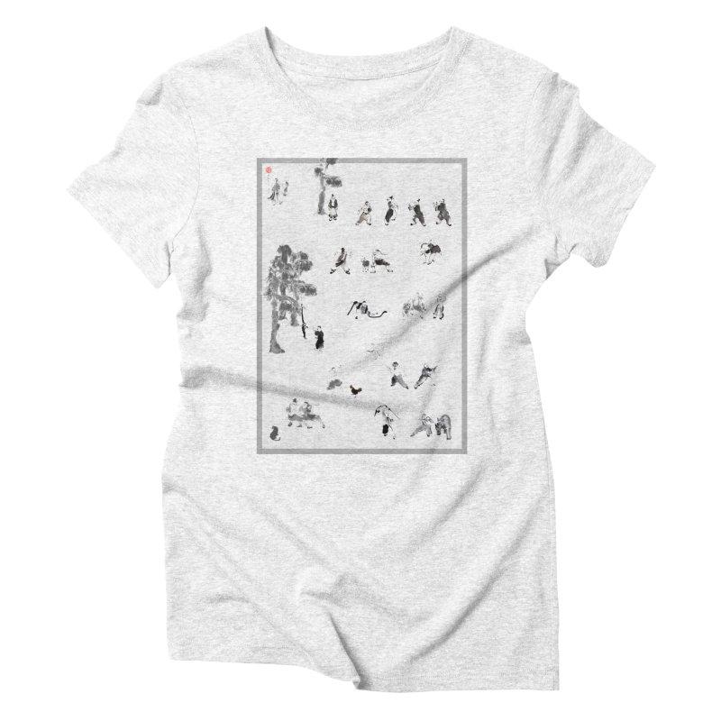 Tai Chi Forest Tales Women's Triblend T-shirt by arttaichi's Artist Shop