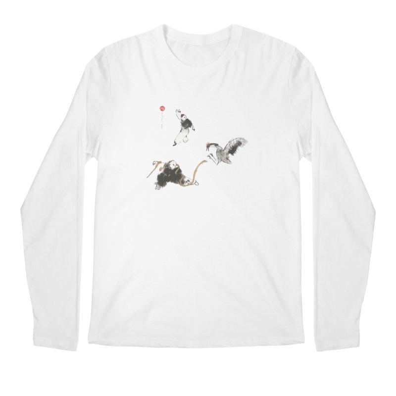 Tai Chi Crane and Snake Men's Longsleeve T-Shirt by arttaichi's Artist Shop