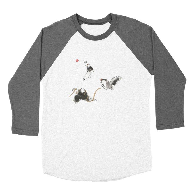 Tai Chi Crane and Snake Men's Baseball Triblend T-Shirt by arttaichi's Artist Shop
