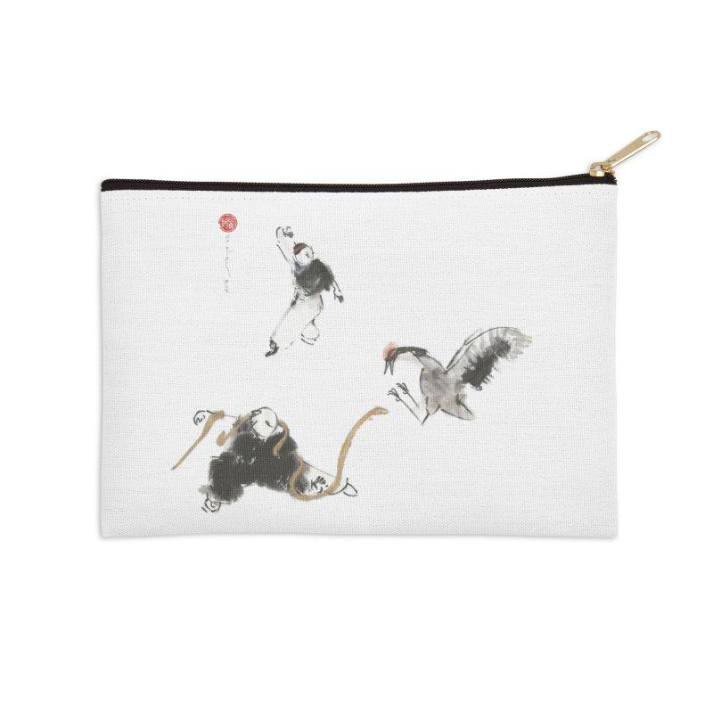 Tai Chi Crane and Snake Accessories Zip Pouch by arttaichi's Artist Shop