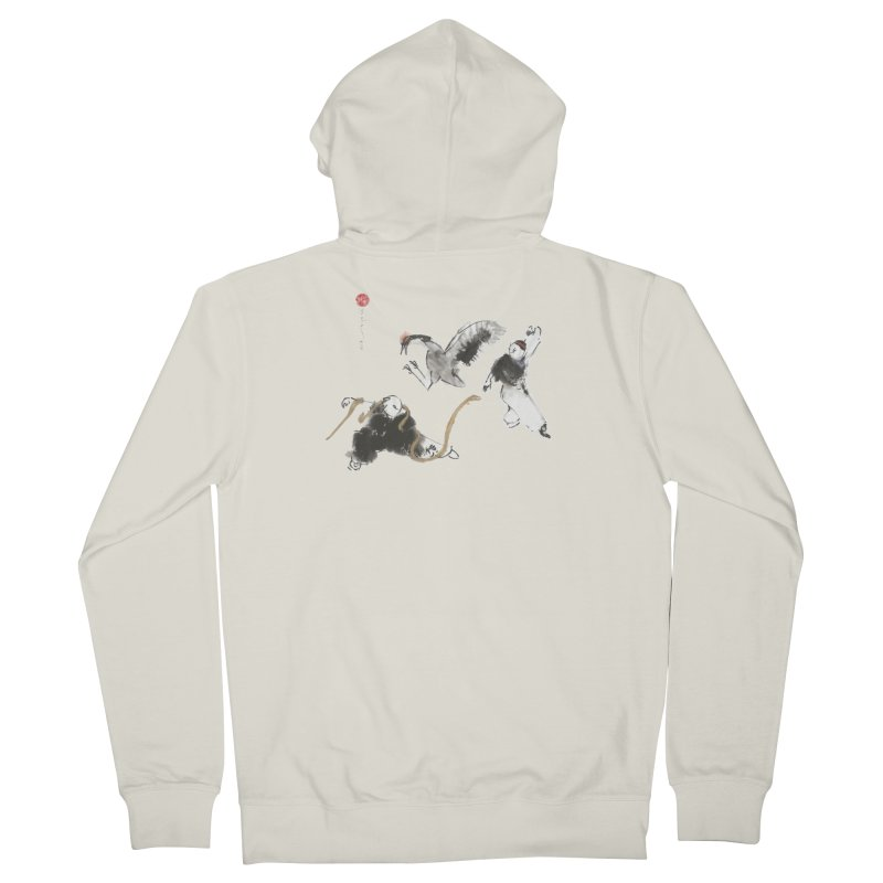 Tai Chi Crane and Snake Men's Zip-Up Hoody by arttaichi's Artist Shop