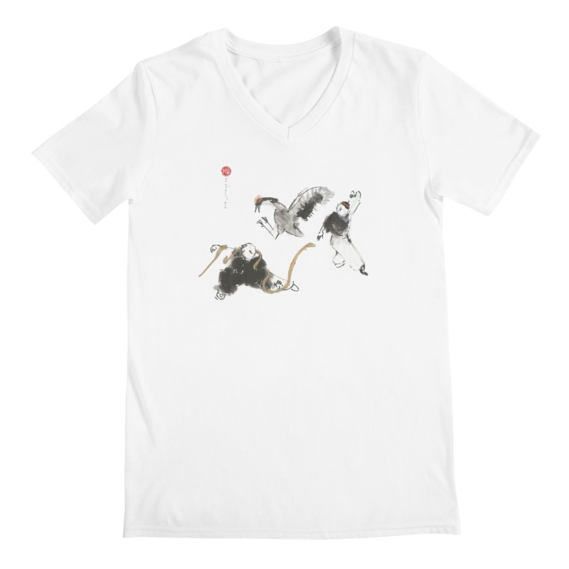 Tai Chi Crane and Snake Men's V-Neck by arttaichi's Artist Shop