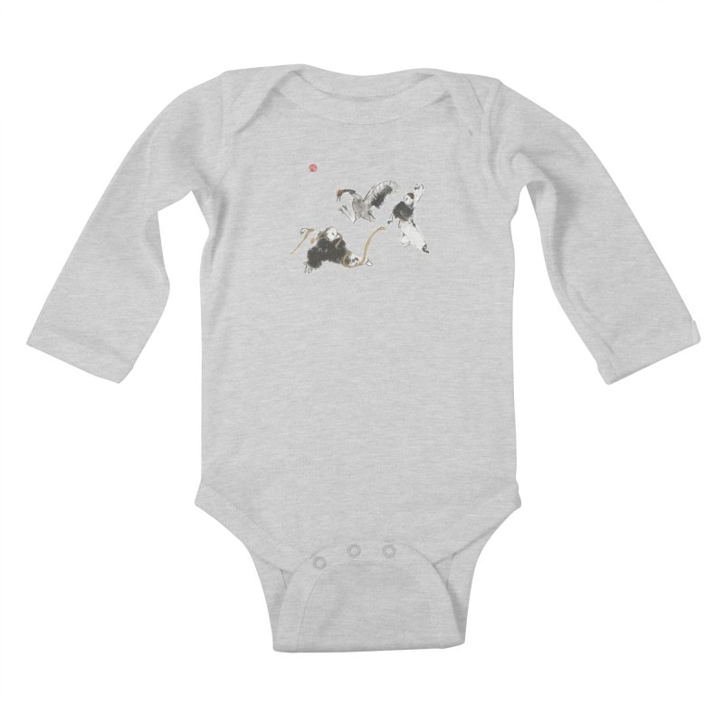 Tai Chi Crane and Snake Kids Baby Longsleeve Bodysuit by arttaichi's Artist Shop