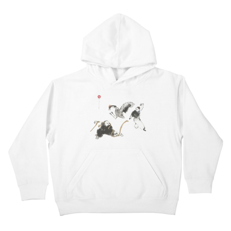 Tai Chi Crane and Snake Kids Pullover Hoody by arttaichi's Artist Shop