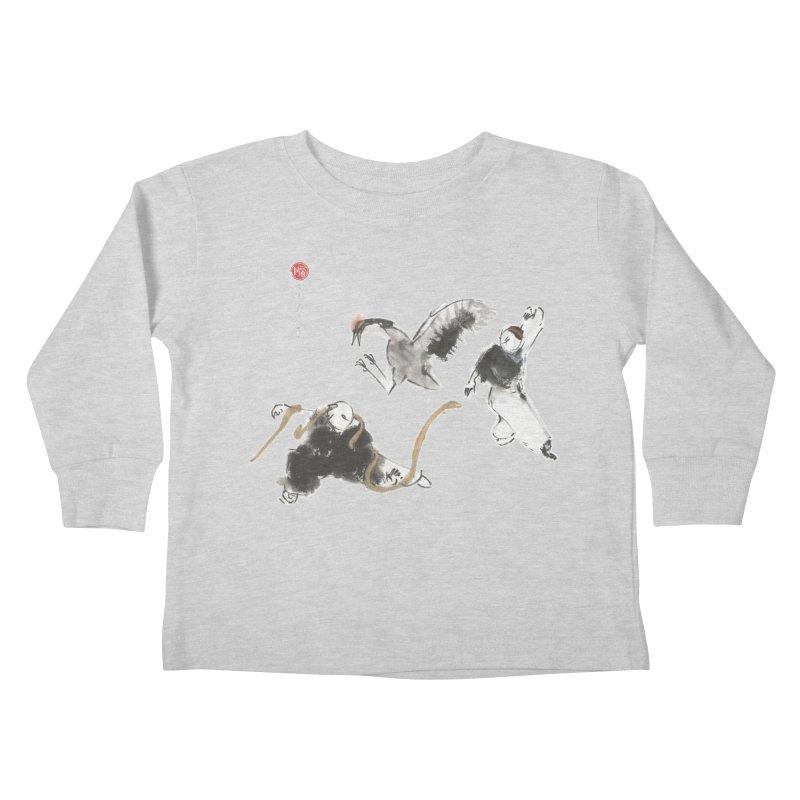 Tai Chi Crane and Snake Kids Toddler Longsleeve T-Shirt by arttaichi's Artist Shop