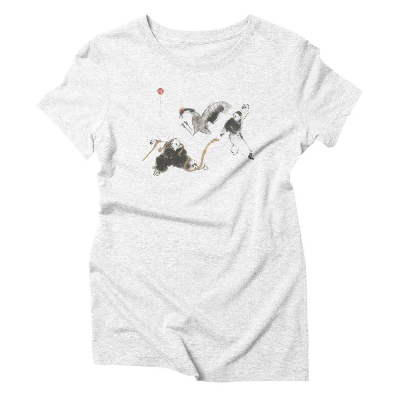 Tai Chi Crane and Snake Women's Triblend T-shirt by arttaichi's Artist Shop