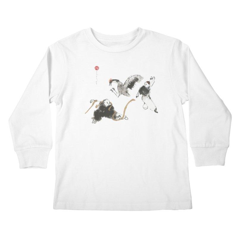 Tai Chi Crane and Snake Kids Longsleeve T-Shirt by arttaichi's Artist Shop