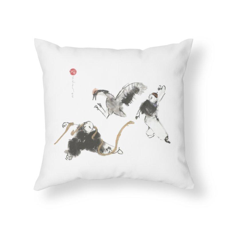 Tai Chi Crane and Snake Home Throw Pillow by arttaichi's Artist Shop