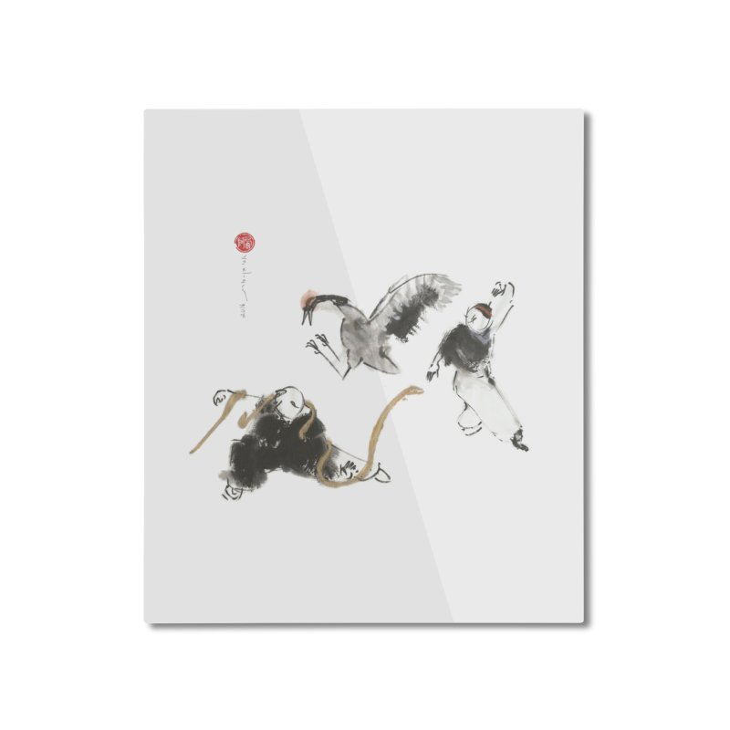 Tai Chi Crane and Snake Home Mounted Aluminum Print by arttaichi's Artist Shop