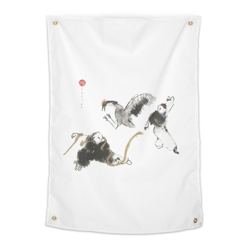 Tai Chi Crane and Snake Home Tapestry by arttaichi's Artist Shop