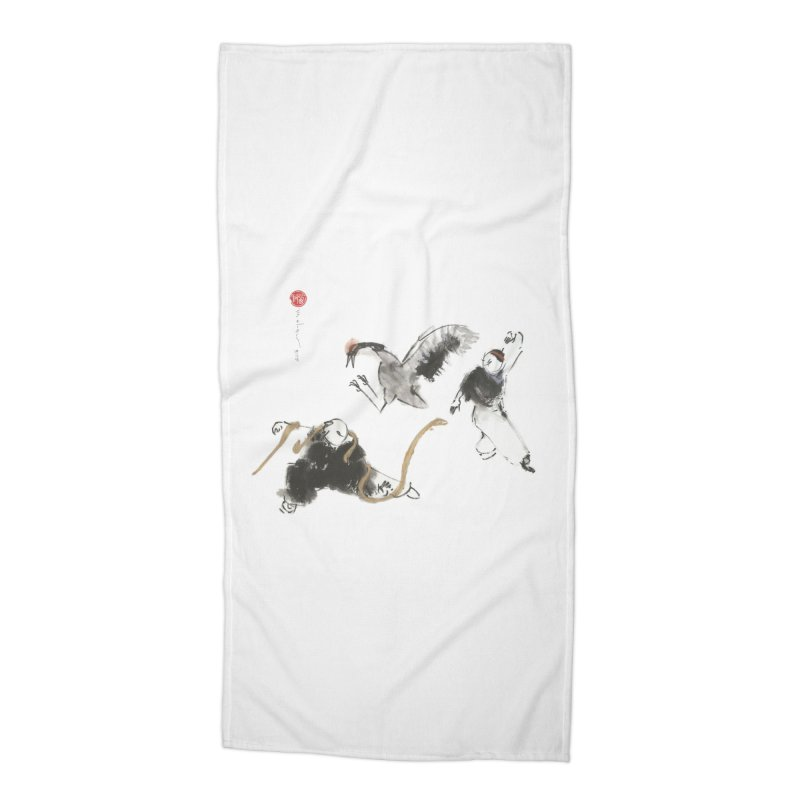 Tai Chi Crane and Snake Accessories Beach Towel by arttaichi's Artist Shop
