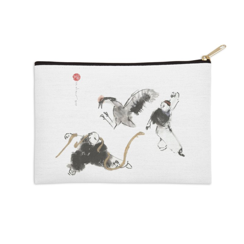 Tai Chi Crane and Snake Accessories Zip Pouch by arttaichi's Artist Shop