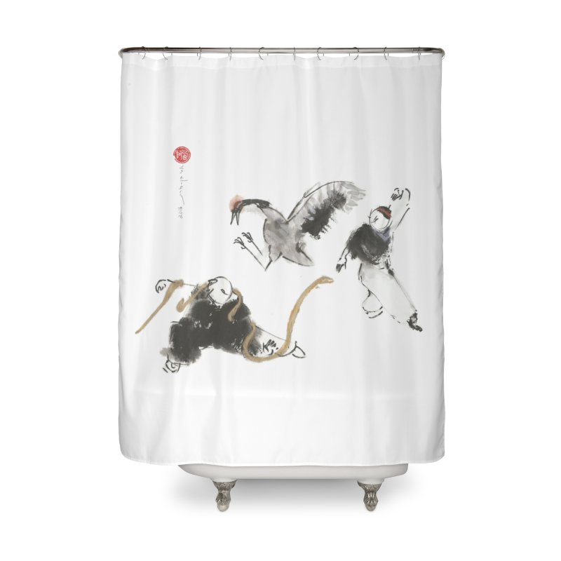 Tai Chi Crane and Snake Home Shower Curtain by arttaichi's Artist Shop