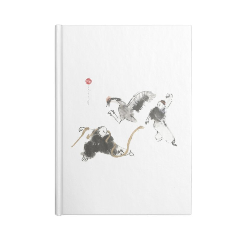 Tai Chi Crane and Snake Accessories Blank Journal Notebook by arttaichi's Artist Shop