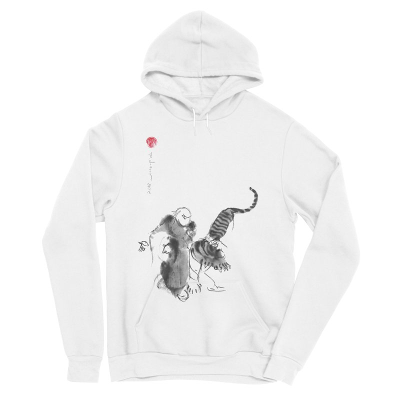 Step Back To Ride Tiger Women's Sponge Fleece Pullover Hoody by arttaichi's Artist Shop