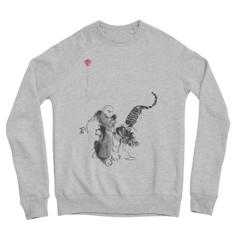 Step Back To Ride Tiger Men's Sponge Fleece Sweatshirt by arttaichi's Artist Shop
