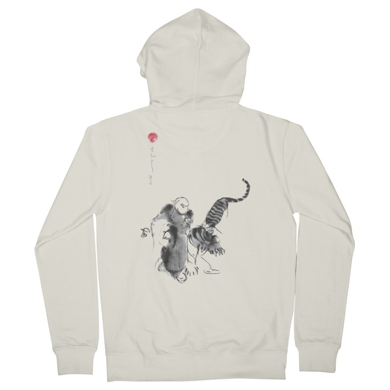 Step Back To Ride Tiger Men's Zip-Up Hoody by arttaichi's Artist Shop