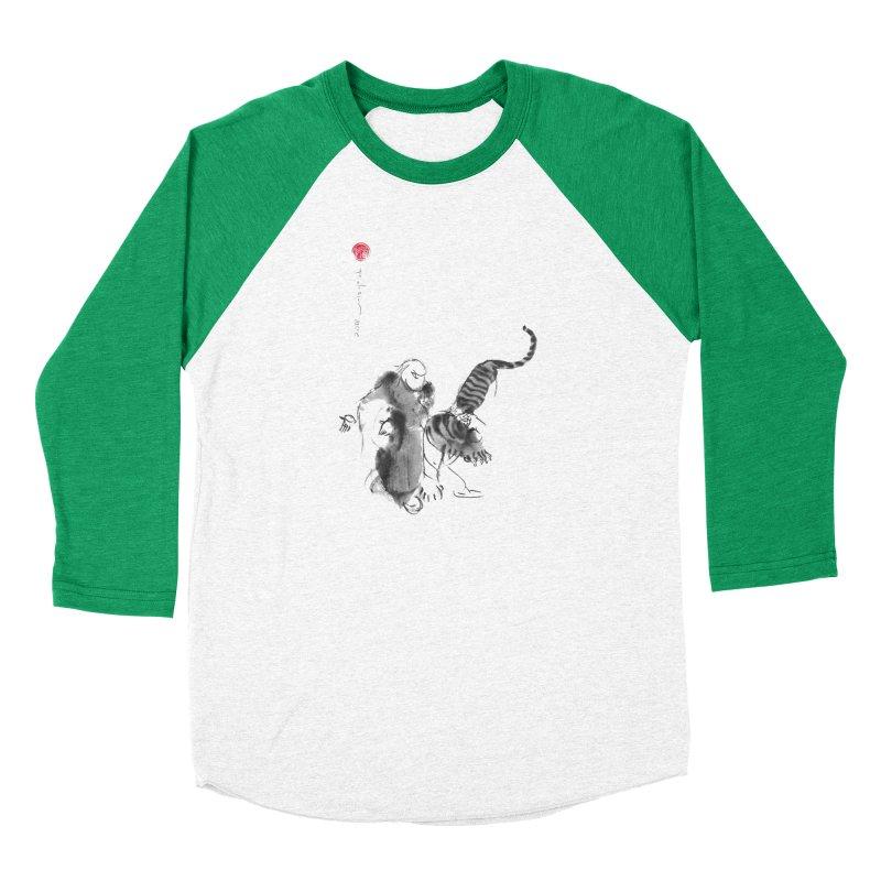 Step Back To Ride Tiger Women's Baseball Triblend Longsleeve T-Shirt by arttaichi's Artist Shop