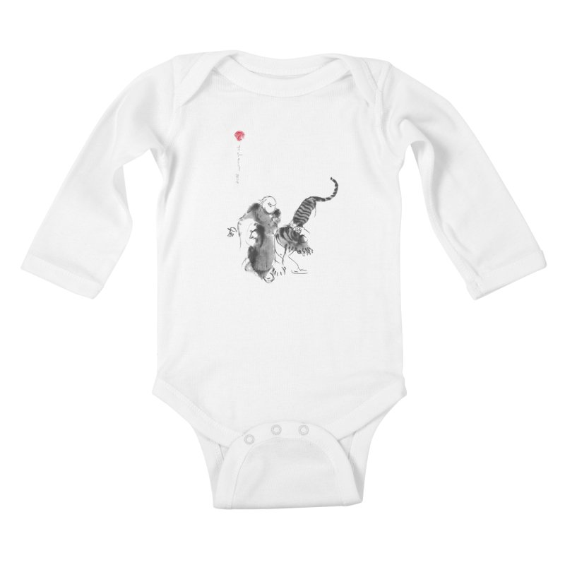 Step Back To Ride Tiger Kids Baby Longsleeve Bodysuit by arttaichi's Artist Shop