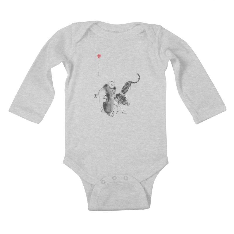 Step Back To Ride Tiger Kids Baby Longsleeve Bodysuit by arttaichi's Artist Shop