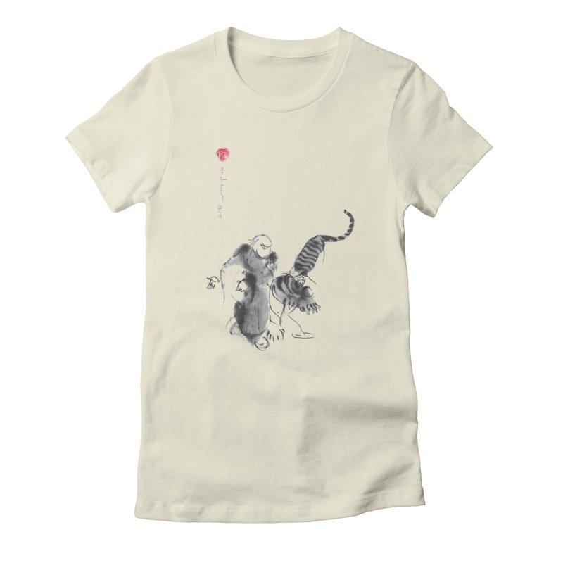 Step Back To Ride Tiger Women's T-Shirt by arttaichi's Artist Shop