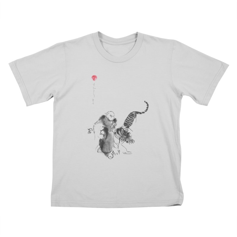 Step Back To Ride Tiger Kids T-Shirt by arttaichi's Artist Shop